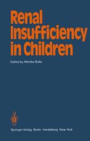 Renal Insufficiency in Children