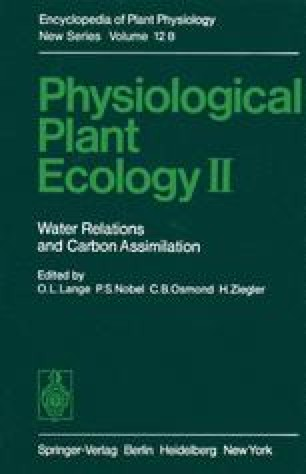 Physiological Plant Ecology II