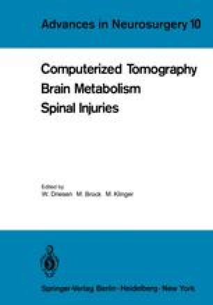 Computerized Tomography Brain Metabolism Spinal Injuries