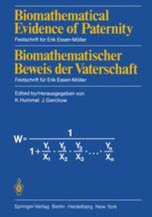 Biomathematical Evidence of Paternity / Biomathematischer Beweis der Vaterschaft