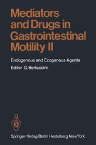 Mediators and Drugs in Gastrointestinal Motility II