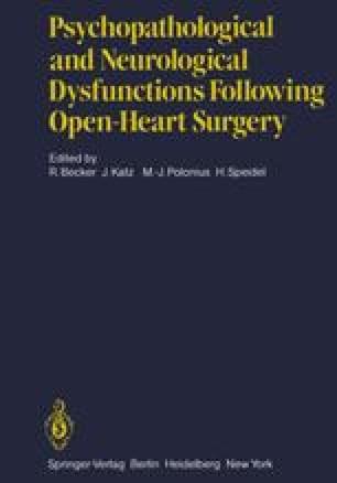Psychopathological and Neurological Dysfunctions Following Open-Heart Surgery