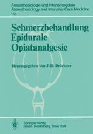 Schmerzbehandlung Epidurale Opiatanalgesie