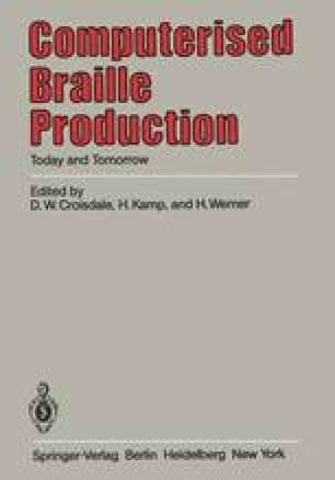 Computerised Braille Production