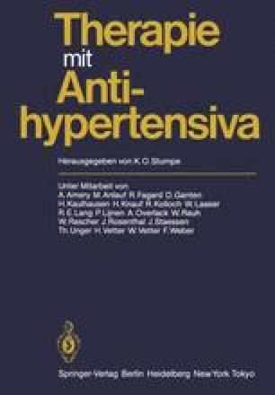Therapie mit Antihypertensiva