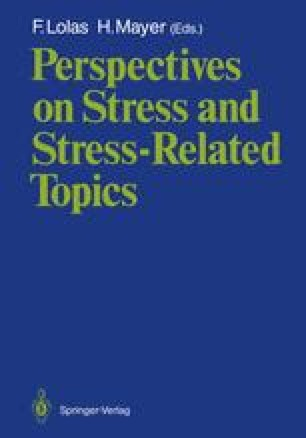 Perspectives on Stress and Stress-Related Topics