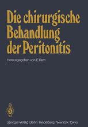 Die chirurgische Behandlung der Peritonitis