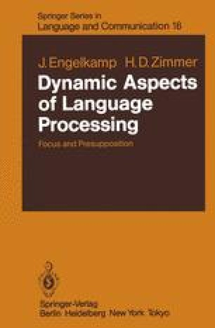 Dynamic Aspects of Language Processing