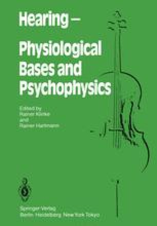 HEARING — Physiological Bases and Psychophysics