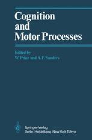 Cognition and Motor Processes