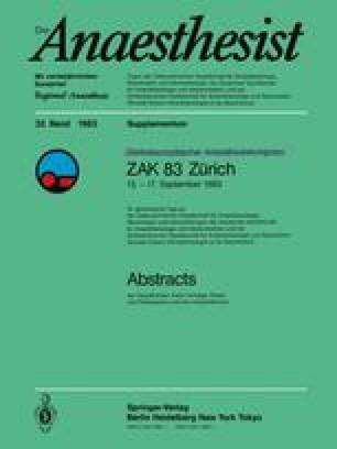 Zentraleuropäischer Anaesthesiekongress ZAK 83 Zürich