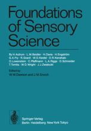 Foundations of Sensory Science