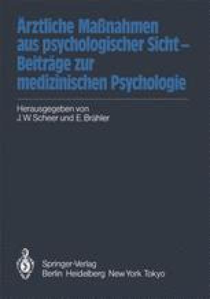 Ärztliche Maßnahmen aus psychologischer Sicht — Beiträge zur medizinischen Psychologie