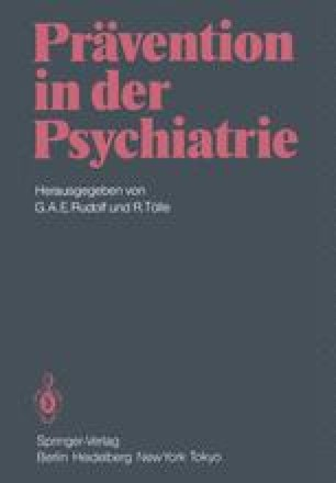 Prävention in der Psychiatrie