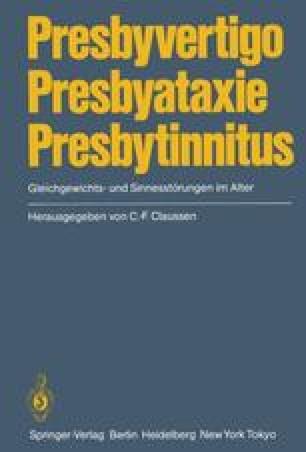 Presbyvertigo Presbyataxie Presbytinnitus
