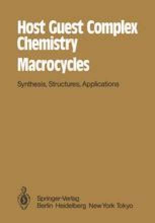 Host Guest Complex Chemistry / Macrocycles