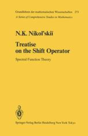 Treatise on the Shift Operator