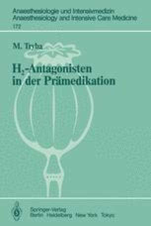 H2-Antagonisten in der Prämedikation
