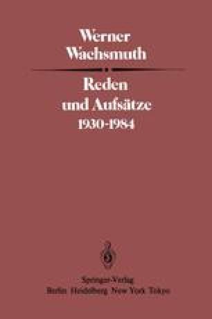 Reden und Aufsätze 1930–1984