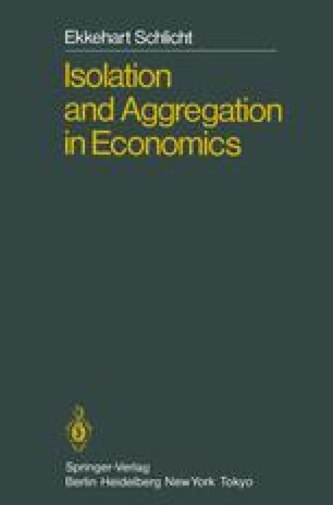 Isolation and Aggregation in Economics