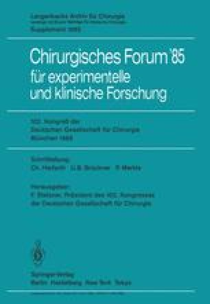 Kongreß der Deutschen Gesellschaft für Chirurgie München, 10.–13. April 1985