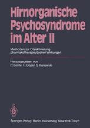 Hirnorganische Psychosyndrome im Alter II