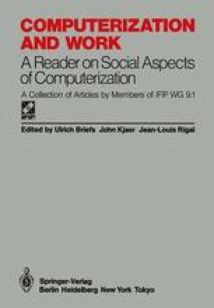 Computerization and Work