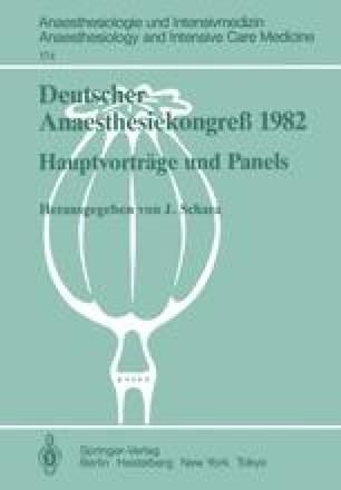 Deutscher Anaesthesiekongreß 1982