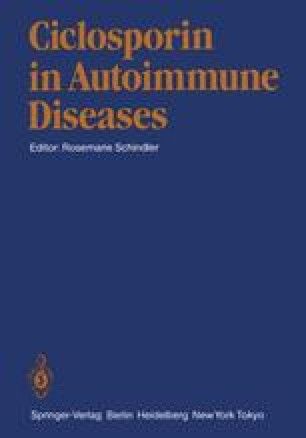 Ciclosporin in Autoimmune Diseases