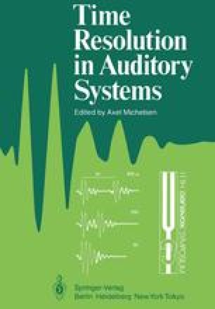 Time Resolution in Auditory Systems