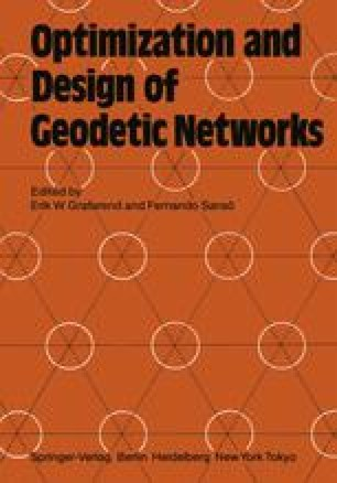 Optimization and Design of Geodetic Networks