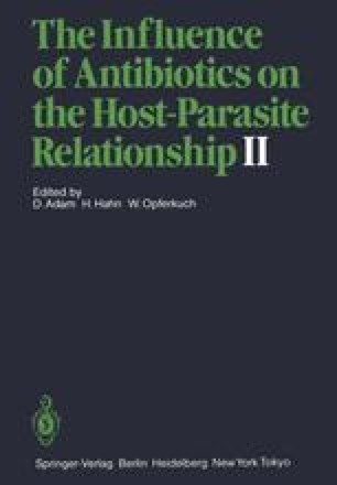 The Influence of Antibiotics on the Host-Parasite Relationship II