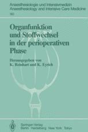 Organfunktion und Stoffwechsel in der perioperativen Phase