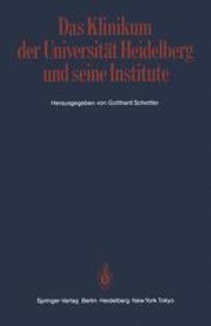 Das Klinikum der Universität Heidelberg und seine Institute