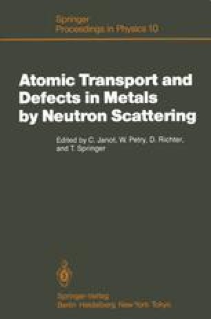 Atomic Transport and Defects in Metals by Neutron Scattering