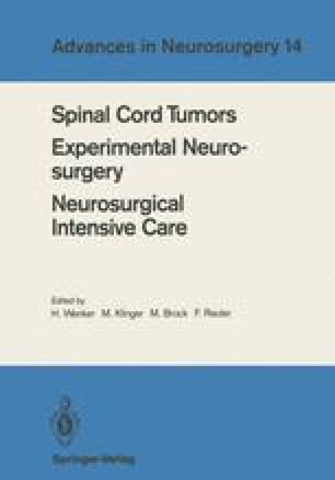 Spinal Cord Tumors Experimental Neurosurgery Neurosurgical Intensive Care