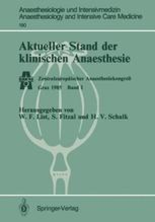 Aktueller Stand der klinischen Anaesthesie