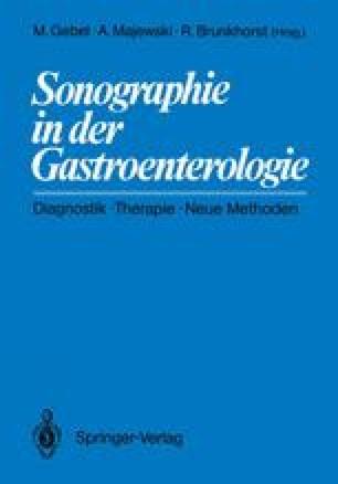 Sonographie in der Gastroenterologie