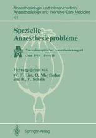 Spezielle Anaesthesieprobleme