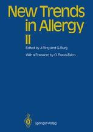 New Trends in Allergy II