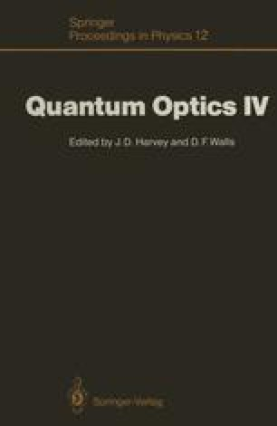 Quantum Optics IV