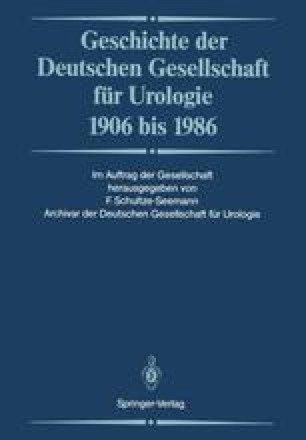 Geschichte der Deutschen Gesellschaft für Urologie 1906 bis 1986