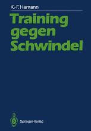 Training gegen Schwindel