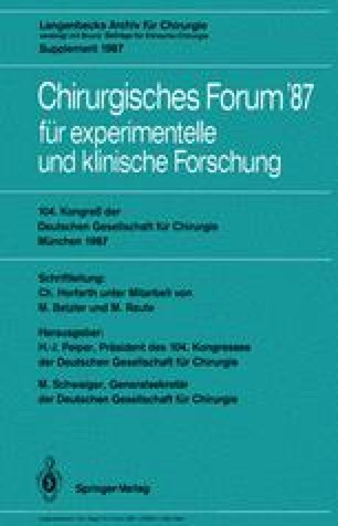 104. Kongreß der Deutschen Gesellschaft für Chirurgie München, 22.–25. April 1987