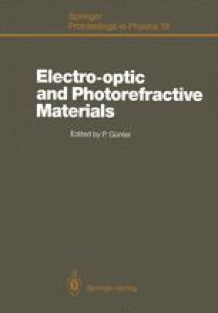 Electro-optic and Photorefractive Materials