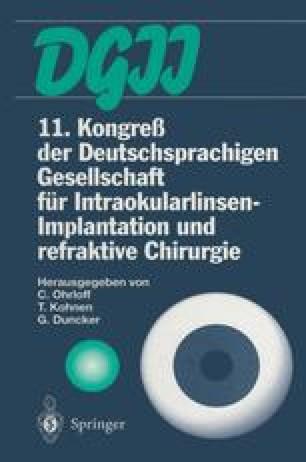11. Kongreß der Deutschsprachigen Gesellschaft für Intraokularlinsen-Implantation und refraktive Chirurgie