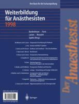 Der Anaesthesist Weiterbildung für Anästhesisten 1998