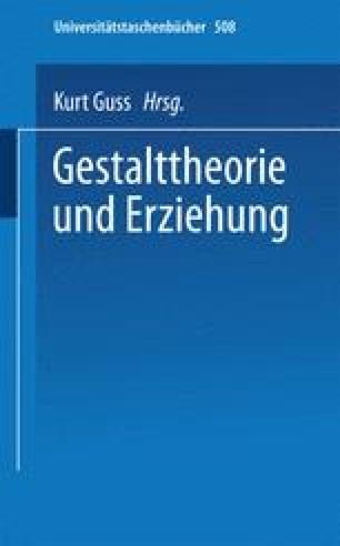 Gestalttheorie und Erziehung
