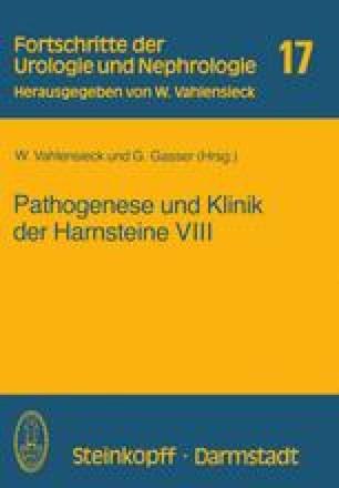 Pathogenese und Klinik der Harnsteine VIII