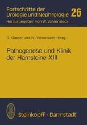 Pathogenese und Klinik der Harnsteine XIII